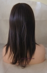 Indian remy human hair glueless full lace wigs light Yaki 12 inch #2