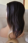 12 inch #2 Indian remy hair light yaki full lace with silk top wig
