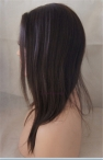 Glueless full lace with silk top Yaki straight Indian remy human hair 12 inch color #2