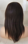 100% Indian remy human hair full lace wigs yaki straight 12 inch #2