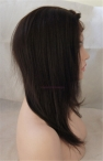 Lace front with 4x4 silk top Indian remy human hair  Yaki straight 12 inch #2