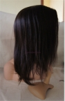 Top quality Indian remy lace wigs coarse yaki full lace cap 14 inch #2