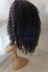 Curly indian remy human hair 12inch color 2 glueless with silk top full lace wigs