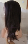 African American Yaki texture Indian remy human hair 14 inch #2 full lace with silk top