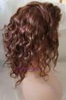 Short curly 12inch color #33 full lace wig with silk top Indian remy hair