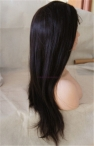 Glueless wigs coarse yaki front lace wigs Indian remy human hair 20 inch #2