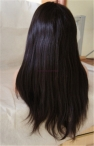 20 inch color 2 Indian remy human hair coarse yaki glueless with silk top