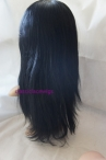 Best lace front wig with silk top natural straight indian remy hair 16 inch #1
