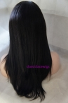 Chinese virgin hair natural straight 16 inch 1b full lace wig