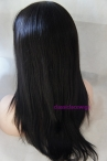 Chinese virgin hair natural straight 16 inch 1b glueless full lace wig
