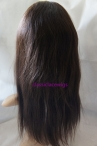 Human hair for black women full lace wigs with silk top natural straight 16inch #2
