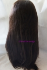 Indian remy hair lace front wig with silk top natural straight 20 inch #2