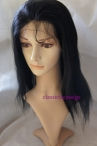 Celebrity style wigs coarse Yaki remy human hair 14 inch #1
