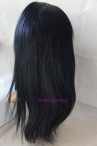 Human hair lace front glueless light yaki indian remy hair 16 inch #1