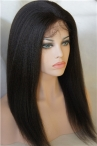 Human hair full lace wigs with silk top italian yaki wigs