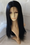Remy hair glueless full lace wig coarse yaki indian human hair