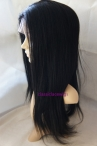 Best wigs for black women indian remy hair glueless lace wigs yaki 18inch #1
