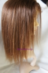 Short glueless lace front wigs human hair yaki straight