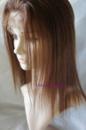 Cheap lace front wigs with silk top human hair yaki straight 12inch #4