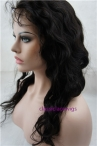 Human hair full lace wigs body wave indian remy human hair 18inch natural color