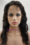 Wholesale human hair wigs body wave glueless full lace wigs 18inch natural color