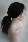 Full lace wigs can make the high ponytail indian remy human hair loose curly