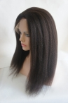 glueless lace wigs with silk top Italian Yaki 18