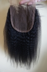 Hot Italian Yaki Hair 4*4 Lace Closure Human Hair Extension 100% Chinese virgin hair
