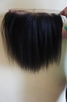 Italian yaki lace frontal 11*5 lace 12inch 1b Indian remy hair