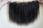100% Indian remy hair italian yaki lace frontal with 13*4 lace 10inch #2