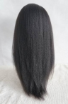 human lace wigs lace front with silk top wigs italianyaki 18 inch #1b