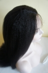 Free style full lace wig Italian yaki 20 inch color #1b Indian remy hair