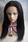 18 inch jet black color #1 Indian remy hair common full lace cap Italian yaki