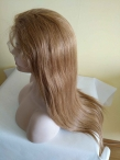 Full lace silk top virgin wig human hair silky straight 20 inch #27