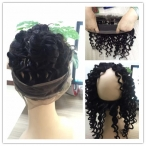 Brazilian virgin hair lace frontal 360 human hair deep curly 22*4*2 inch lace