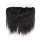 Indian remy hair lace frontal 13*4 lace with 4*4 silk base on top natural color natural straight