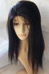 African american glueless wig silk top coarse yaki indian remy human hair 14 inch #1b