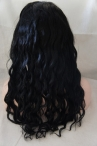 Indian remy hair 14mm curly 18inch #1 glueless full lace wigs