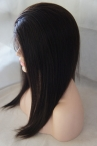 Wholesale remy human hair full lace wigs light yaki indian hair 16 inch #2