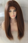 glueless full lace with silk top human wigs kinky straight