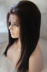 human lace front wigs with silk top natural straight remy hair 16 inch #2