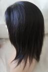 human lace wigs with silk top yaki straight glueless color #1b with baby hair knots bleached