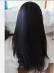 With silk top free parting full lace wig Italian yaki Indian remy hair