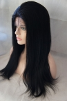 buy lace wigs online silk top light yaki indian remy hair 18 inch #1