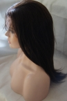 Indian remy full lace wigs with baby hair silky straight 16 inch #2