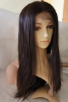 Remy human hair lace front wigs light yaki 20 inch #2