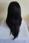 real hair yaki  lace front wig Indian remy hair 20 inch cheap hot selling