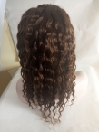 Low price lace front wigs indian remy human hair deep wave 14 inch #4