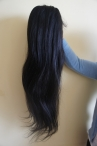 natural straight indian remy hair human hair lace front wigs 22 inch #1b