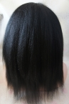 Glueless remy lace wigs silk top Italian yaki indian remy human hair 12 inch #1